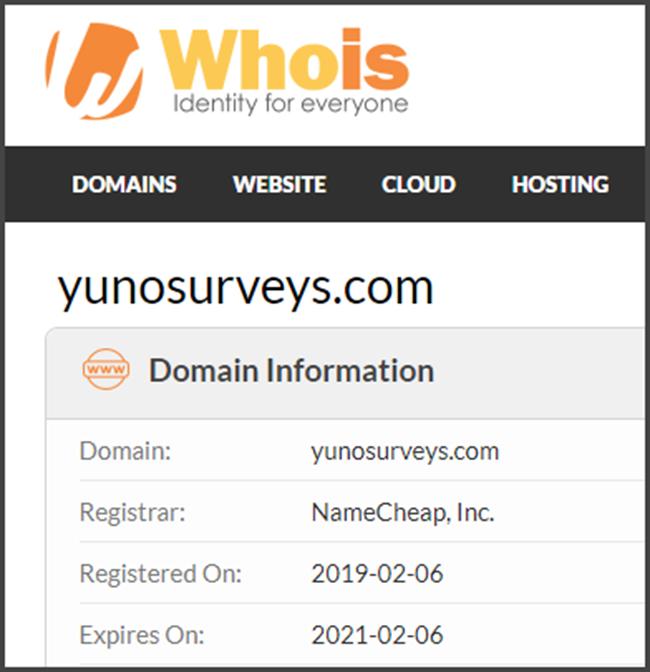 Yuno Surveys Review Registration Date
