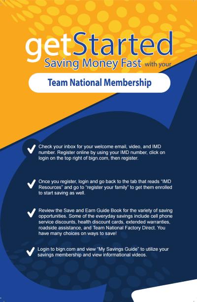Get Started Team National Membership Brochure