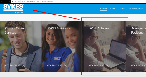 Sykes Canada work at home jobs