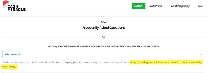 CashMircle FAQ
