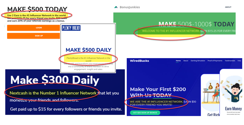 Influencer Network Scam