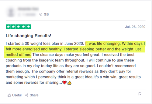 Isagenix Product Review 2 Life Changing Results