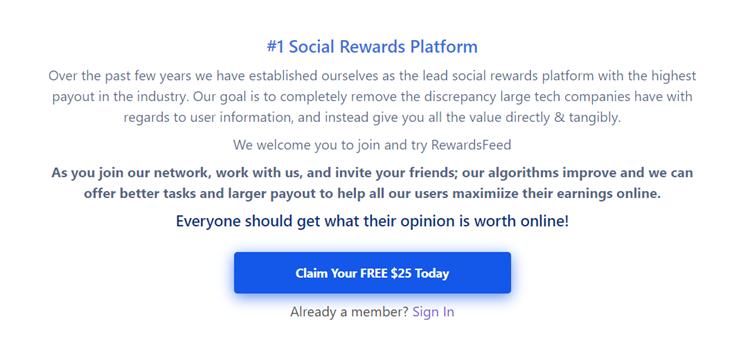 RewardsFeed Apparent History