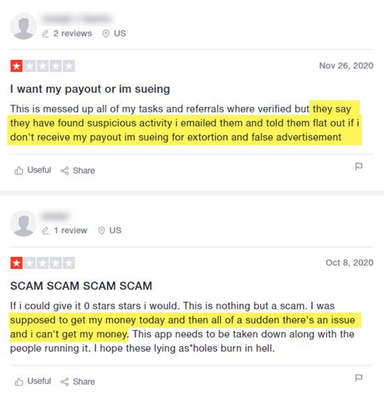 RewardsFeed TrustPilot Reviews Users Not Paid