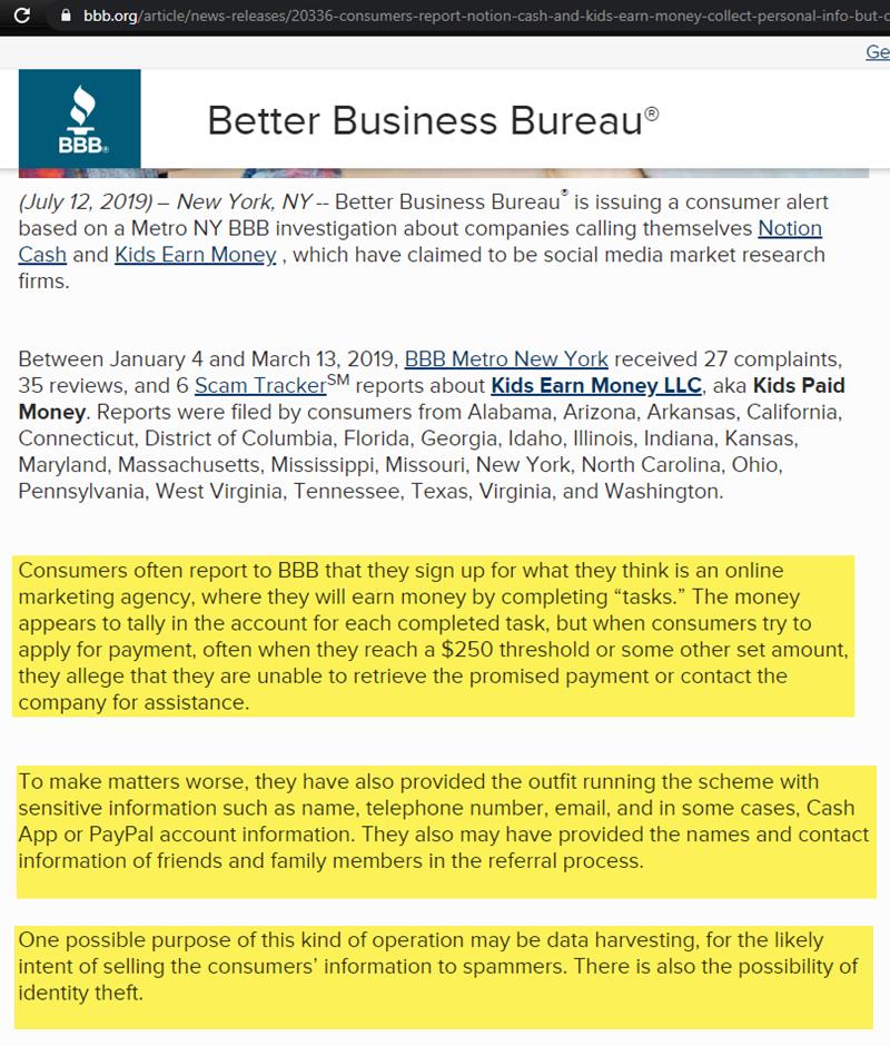 Better Business Bureau Scam Alert