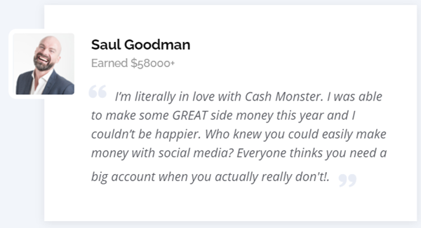 Cash Monster Fake Testimonial 3a