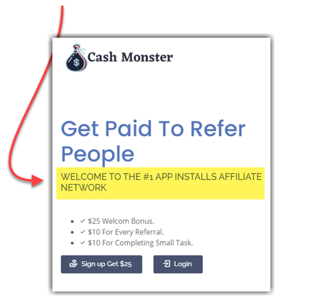 Cash Monster Site Description