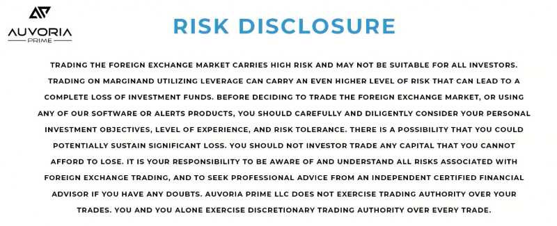 Auvoria Risk Disclosure