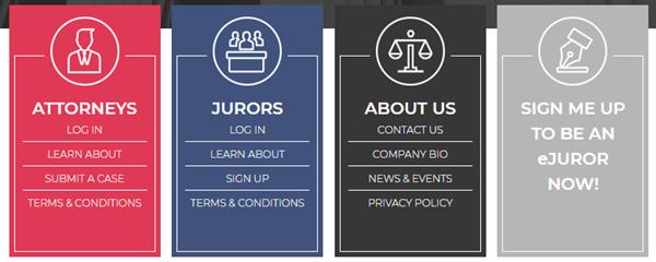 eJury Attorney Juror Options