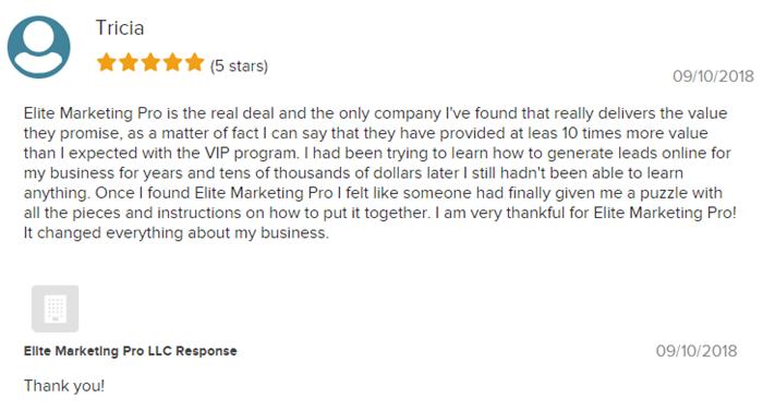 Elite Marketing Pro BBB review