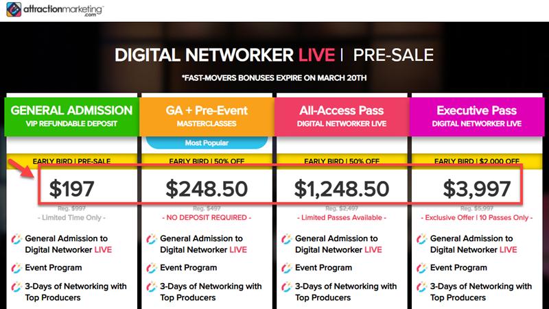 Elite Marketing Pro Event Pricing