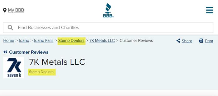 7K Metals Better Business Bureau