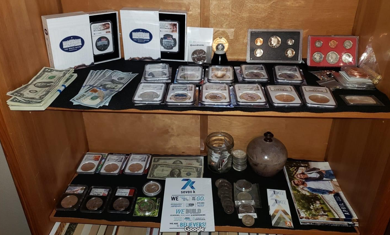 7K Metals Coin and Bill Display Case