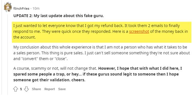 Inbound Closer User Refund